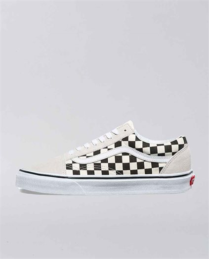 Old Skool Checkerboard White and Black Shoe
