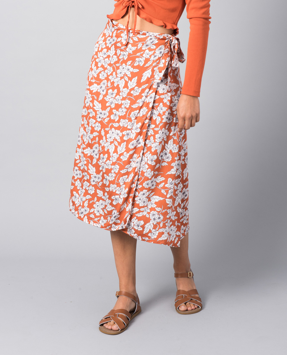 Firefly Rust Floral Skirt