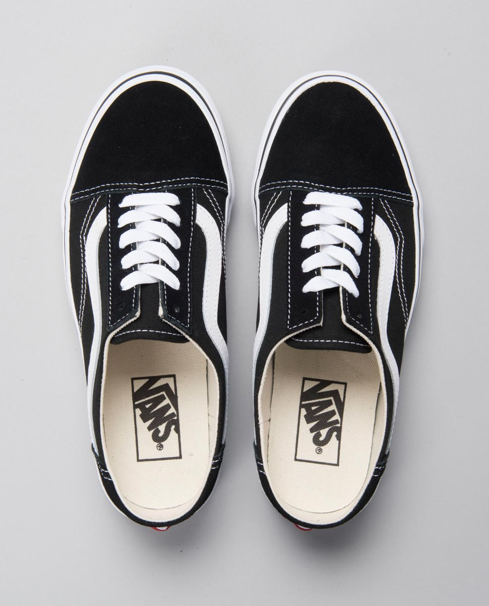 Old Skool Mule Black and White Shoe