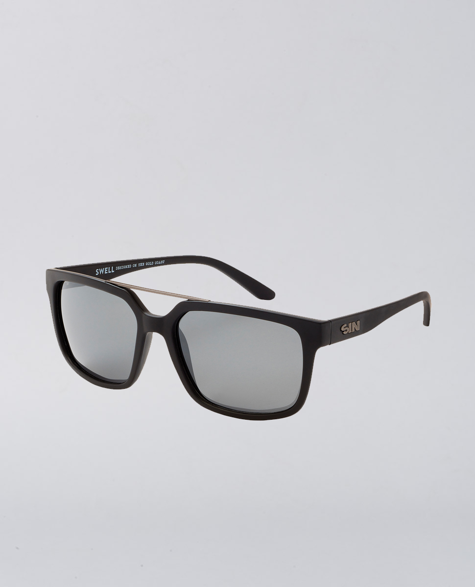 PCL Swell Rubber Black Sunglasses