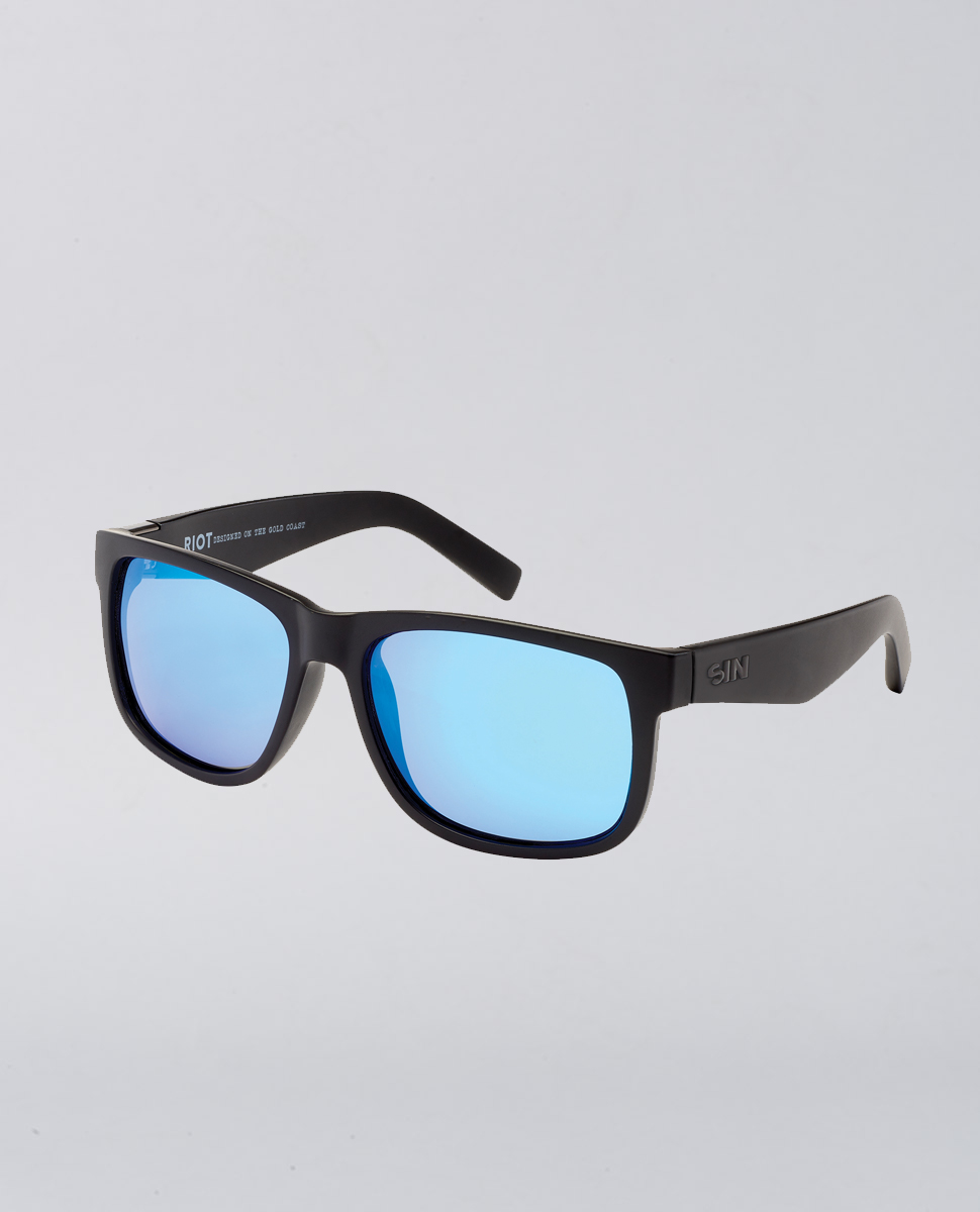 Riot Matte Rave Blue Sunglasses