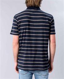 Die Cut Stripe Polo Top