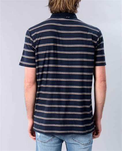 Die Cut Stripe Polo Top