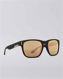 Monarch Matte Black Rose Gold Sunglasses