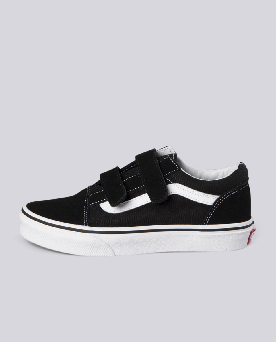 f38c73a3 Vans Kids Old Skool Velcro Black Shoes at Ozmosis