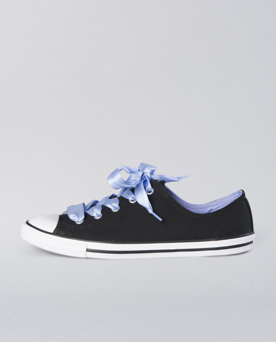 Ct Dainty Canvas Satin Low Blk
