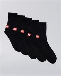 Minibar Crew 5 Pack Socks