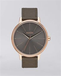 Kensington Leather Rose Gold Taupe Watch