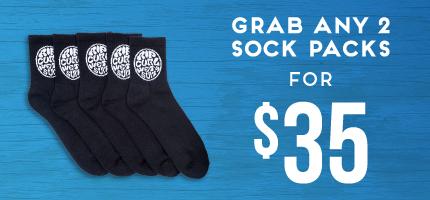 Mega Kids 2 For $35 Socks