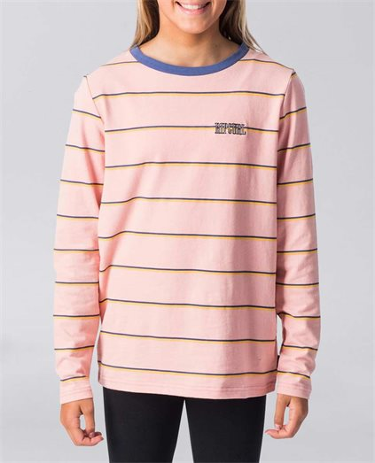 Teen Boston Stripe Long Sleeve Tee