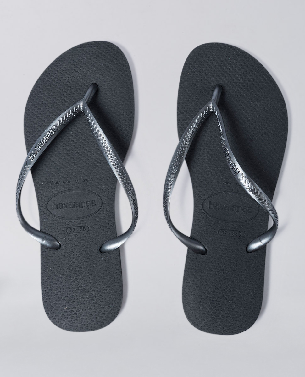 8ad1b6c08ca7 Havaianas Slim Metallic Grey Thongs