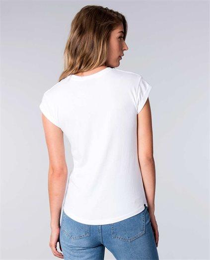 Alana Basic Roll Sleeve T-Shirt