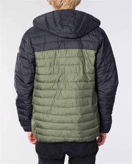 Scaly Hood Block Jacket