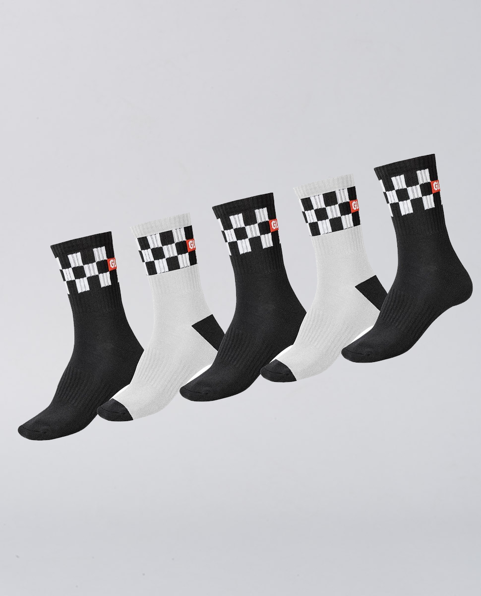 Checker Crew Sock 5PK