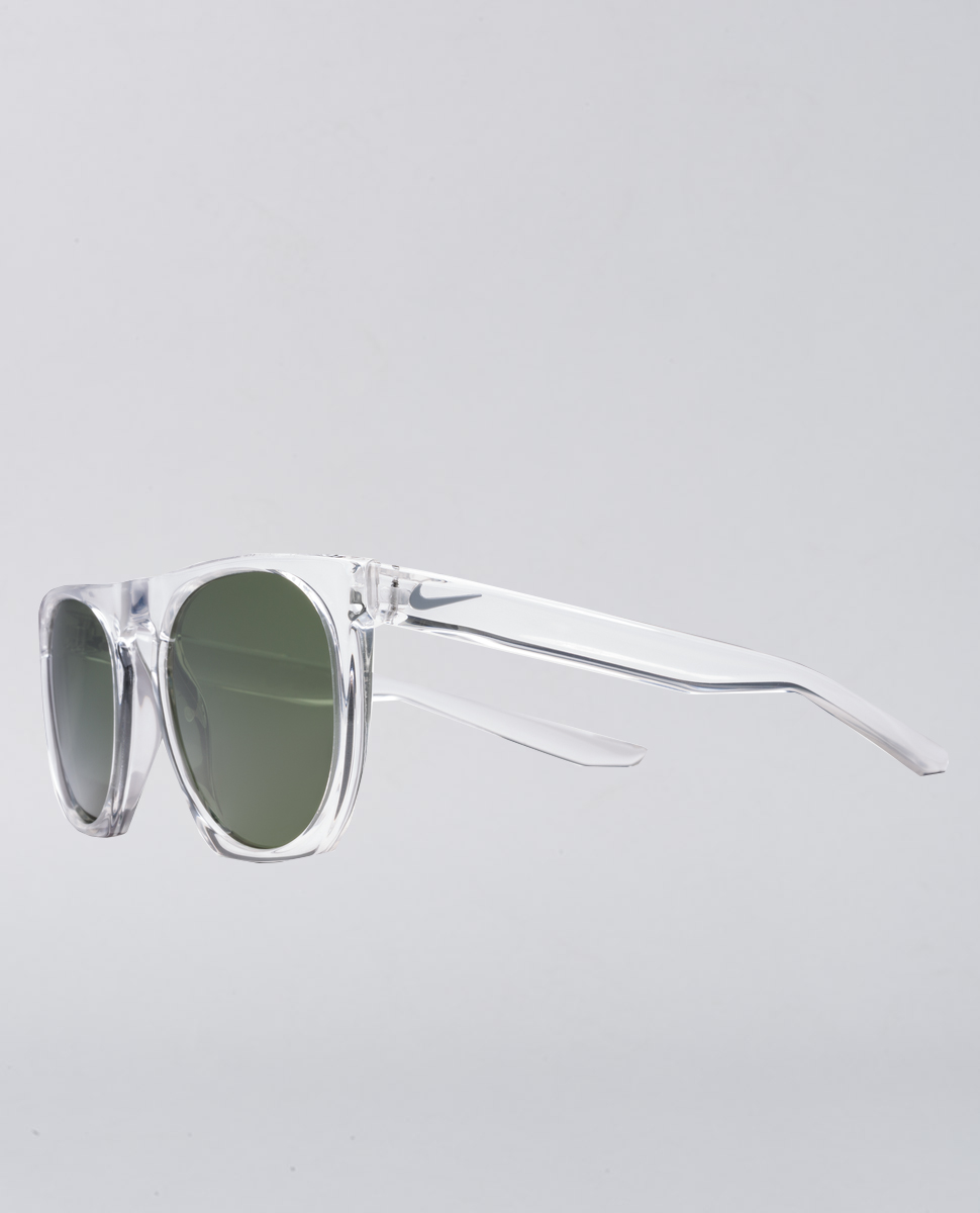 Flatspot Crystal Clear Green Sunglasses