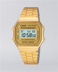 Casio Vintage Digital Stainless Steel Gold Watch