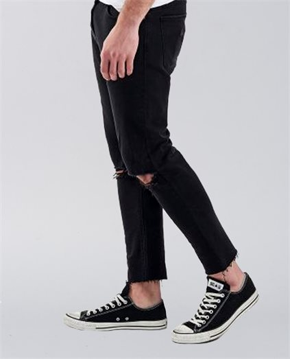 Dropped Skinny Turn Up Jeans