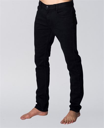 Slim Leg Salt Black Jean