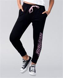 Strip Black Trackpant