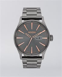 Sentry Stainless Steel All Gunmetal Rose Gold Watch