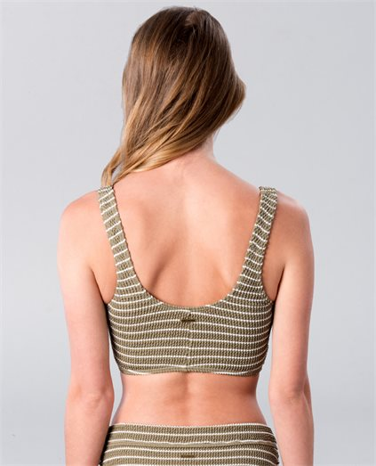 Hula Stripe Crop Tank