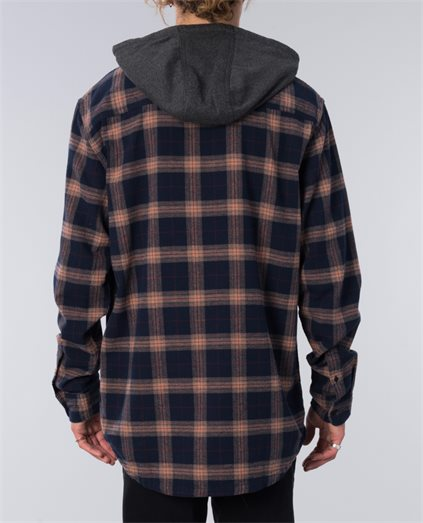Snap Up Hooded Shirt