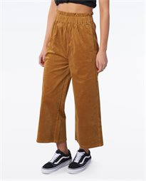 Tell Me Cord Flare Crop Pant