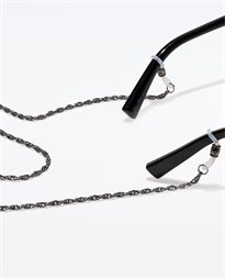 Gunmetal Hollow Rope Neck Chain
