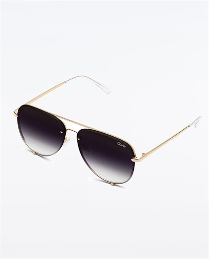 High Key Rimless Gold Fade Sunglasses