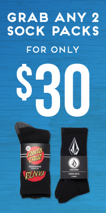 Socks 2 for $30 Mega Womens