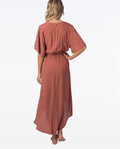 Saffron Skies Wrap Dress