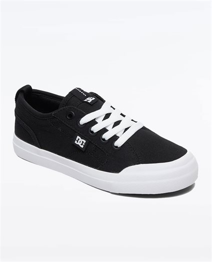 Boys Evan TX Black White Shoe