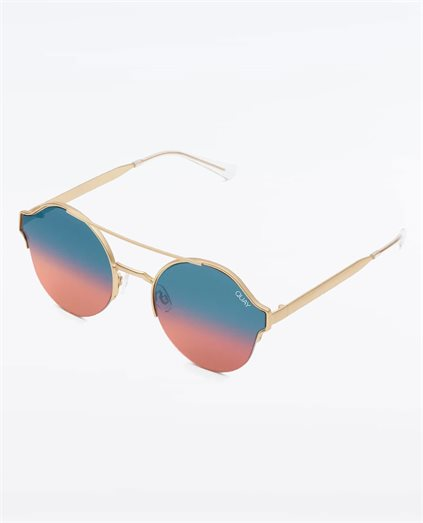 Roadie Gold Ombre Sunglasses