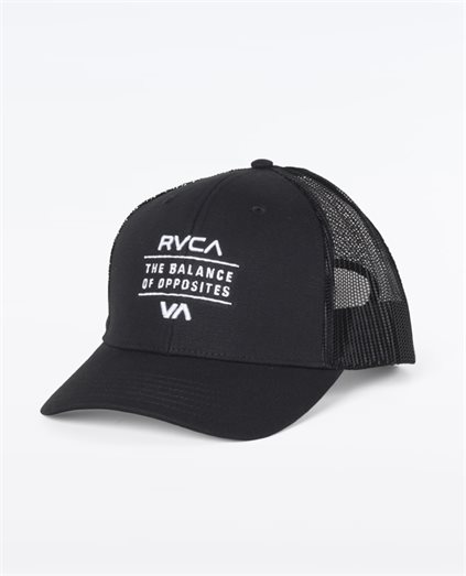 Corp Curved Trucker Black Cap