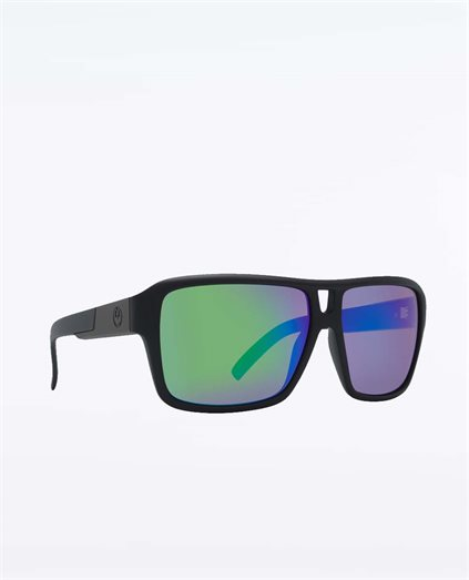 The Jame Matte Black Green Sunglasses