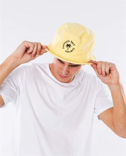 Gold Palm Circle Logo Bucket