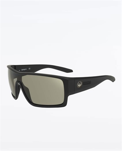 Flash Matte Black Smoke Polarised Sunglasses