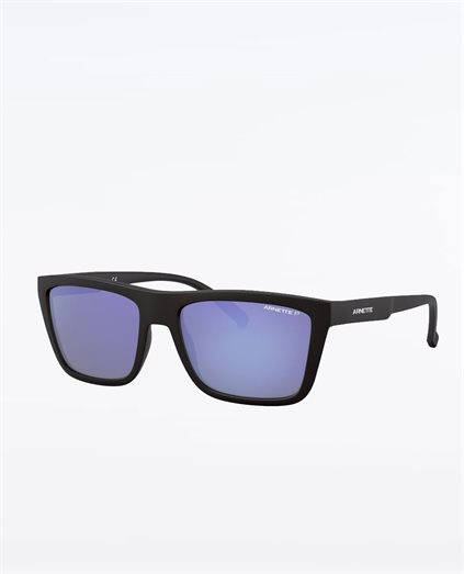 Deep Ellum Matte Black Polarised Mirror Sunglasses