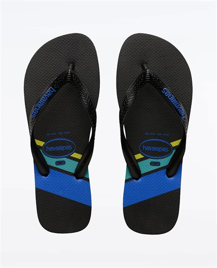 Trend Black Blue Thongs