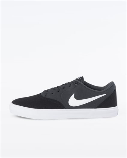 Check Solarsoft Black Canvas Shoe