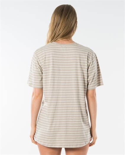 Striped Logo Boyfriend Tee