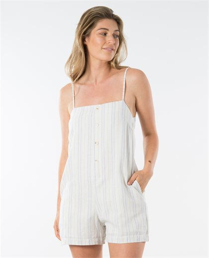 Real Ties Linen Playsuit