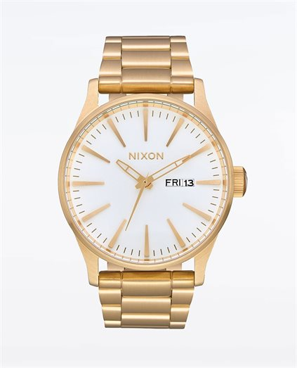 Sentry Stainless Steel All Gold White Watch