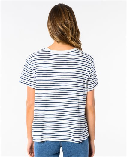 Holiday Patch Stripe Tee