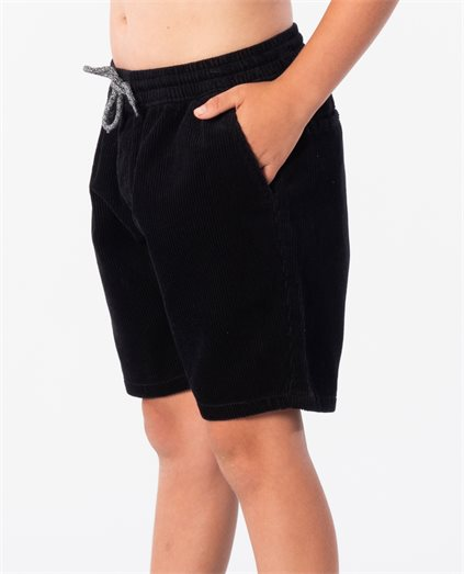 Kids Cord Black Walkshorts