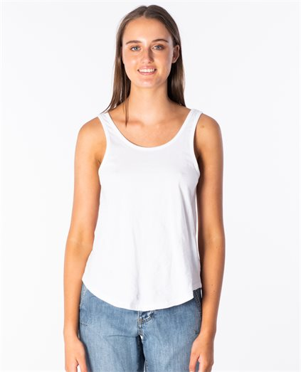 Sage Scoop Neck Tank Top
