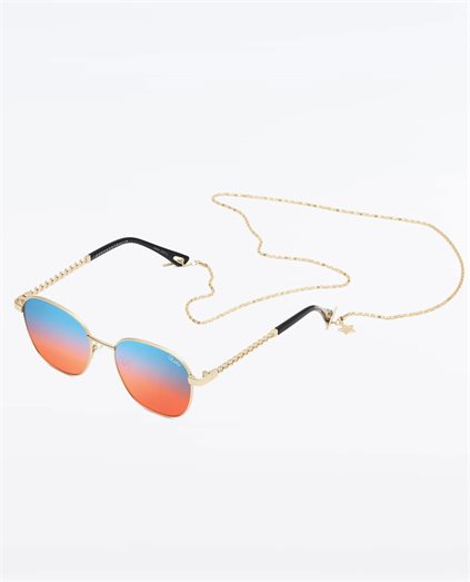 Unisex Link Up Gold Blue Red Sunglasses