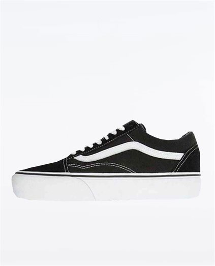 Old Skool Platform Black and White Shoe