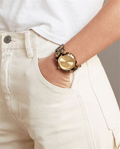Time Teller Cream Tortoise Watch