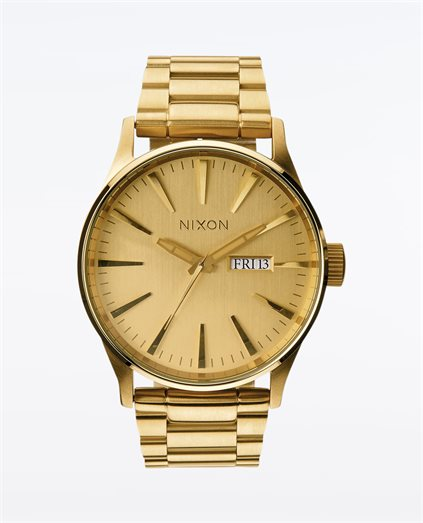 Sentry Gold Stainless Steel Watch